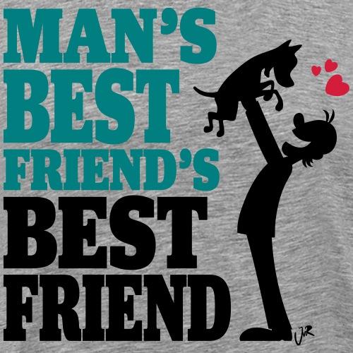 Man's best friend's best friend - Mannen Premium T-shirt