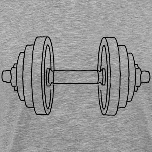 Hantel Kraftsport - Männer Premium T-Shirt