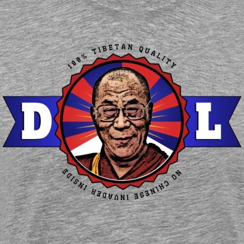 Dalai Lama 100% Tibetan Quality (Schwarze Schrift) - Männer Premium T-Shirt