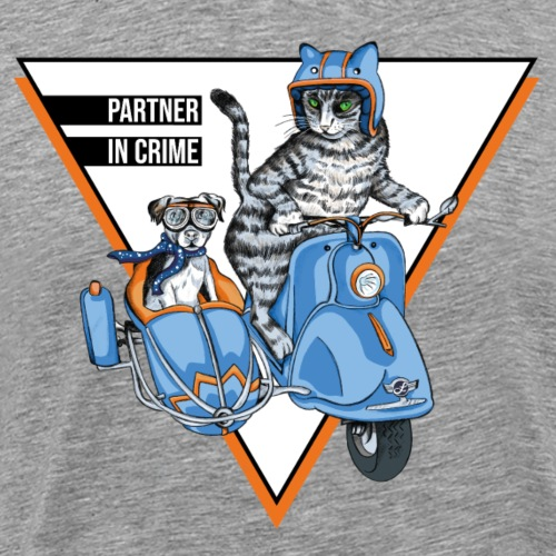 Partner in Crime - Cat & Dog - Männer Premium T-Shirt