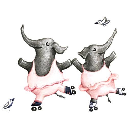 Rollschuh Elefanten Rosa - Männer Premium T-Shirt