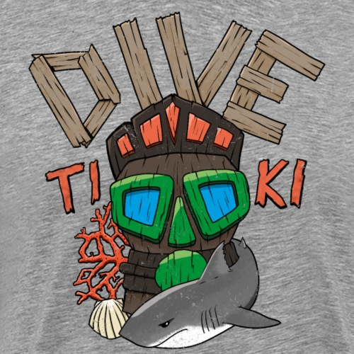 Dive-Tiki - Männer Premium T-Shirt