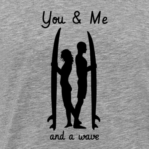 Surf Couple - Männer Premium T-Shirt