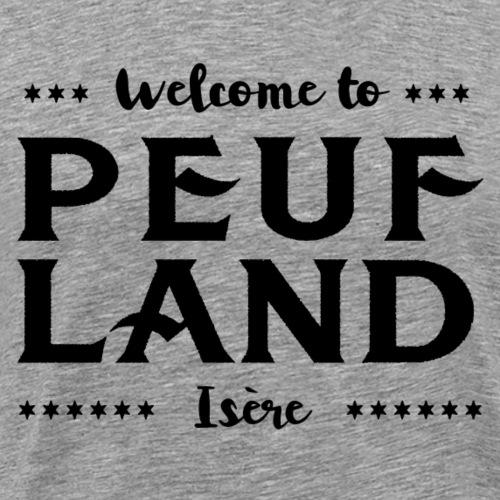 Peuf Land 38 - Isère - Black - T-shirt Premium Homme