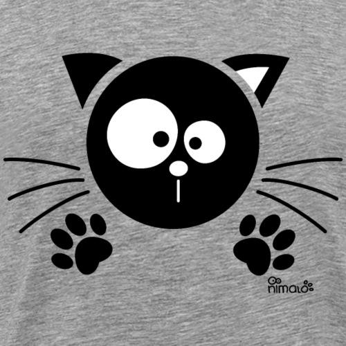 Chat noir Rigolo Drôle Humour Chaton Cat Mignon - T-shirt Premium Homme