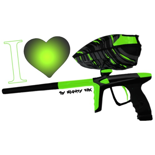 I Love Paintball Lime - T-shirt Premium Homme