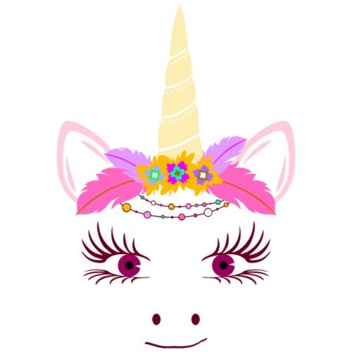 Cute Unicorn Boho Chic Feathers 2 - Männer Premium T-Shirt