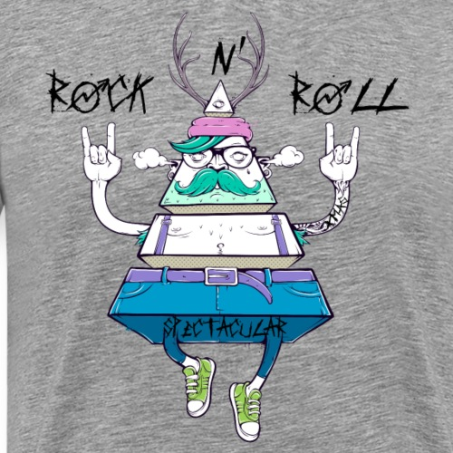 Funny Spectacular Rock N' Roll Christmas Gifts - Men's Premium T-Shirt