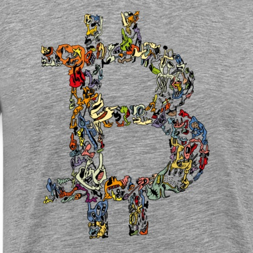 BITCOIN logo color - Mannen Premium T-shirt