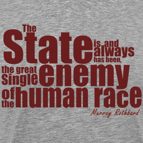 enemy human race rothbard - Männer Premium T-Shirt