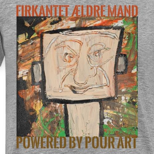 Firkantet ældre mand - Herre premium T-shirt