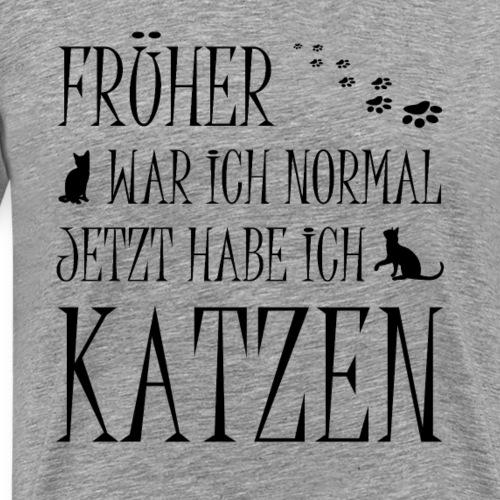Jetzt habe ich Katzen Schwarz - Männer Premium T-Shirt