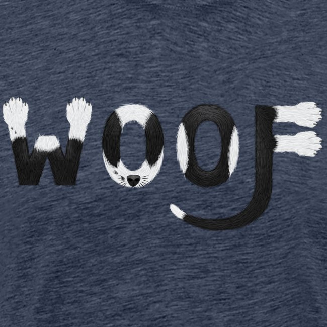 Dog cane t shirt - woof woof