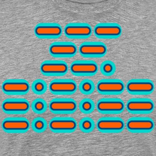 OMG!!! (orange/blue) - Men's Premium T-Shirt