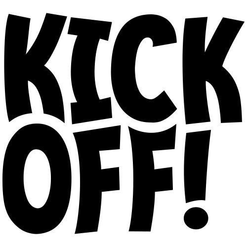 Slogan Kick off. Aftrap of meeting concept. - Mannen Premium T-shirt