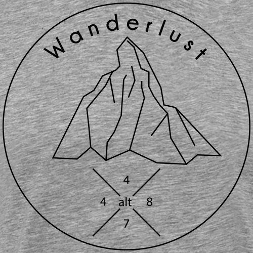 Wanderlust Matterhorn Zermatt 3D Logo - Männer Premium T-Shirt
