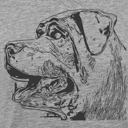 Rottweiler Mund offen schwarz - Männer Premium T-Shirt