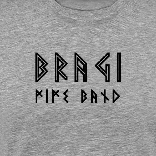 Bragi Text Simple Black - Herre premium T-shirt