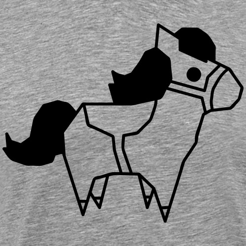 Low Poly Pony Low Polygon Pony Low Poly Pferd Süß - Männer Premium T-Shirt