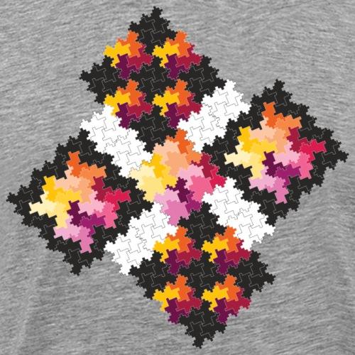 Fraktaler Frühling - Männer Premium T-Shirt