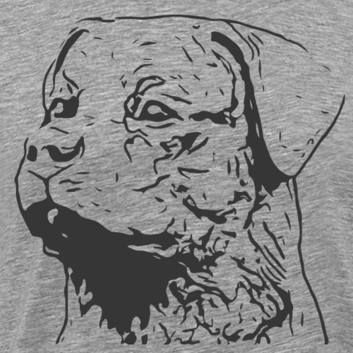 Rottweiler Portrait Grafik schwarz - Männer Premium T-Shirt