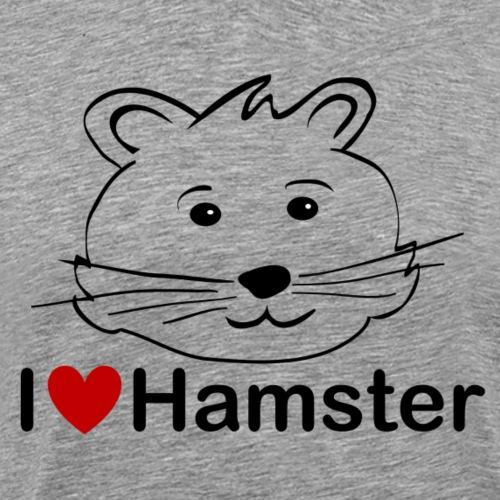 I love Hamster - für Hamsterfreunde - Männer Premium T-Shirt