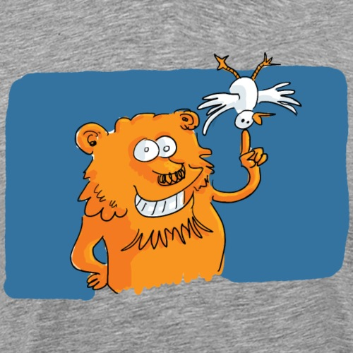 Le lion et l'oiseau - T-shirt Premium Homme