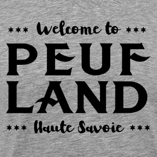 Peuf Land 74 - Black - T-shirt Premium Homme