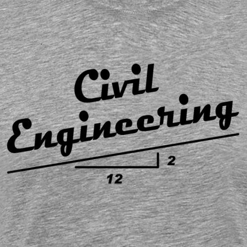 Civil Engineer Slope - Men's Premium T-Shirt