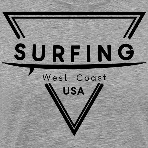 Surfing West Coast Logo Dreieck Geschenkidee - Männer Premium T-Shirt