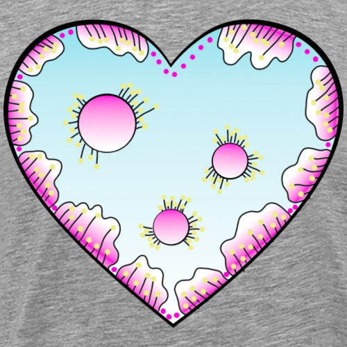 Herz Serena - Männer Premium T-Shirt