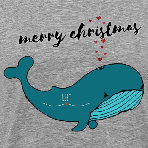 Wal merry christmas - Männer Premium T-Shirt