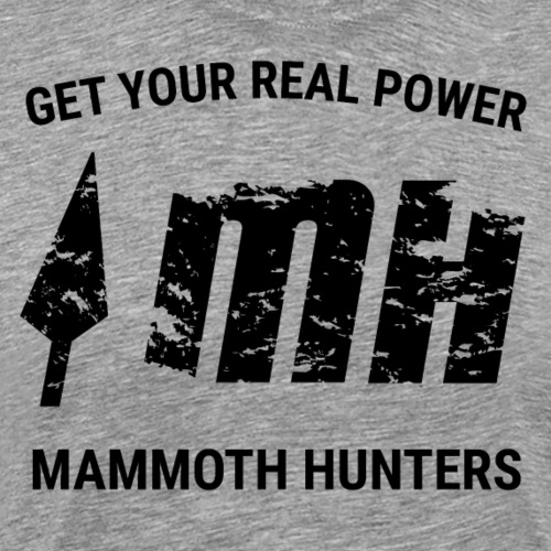 Mammoth Hunters / Negro - Camiseta premium hombre