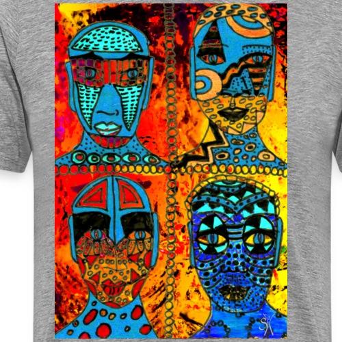SH African Faces Quartett 01 - Männer Premium T-Shirt