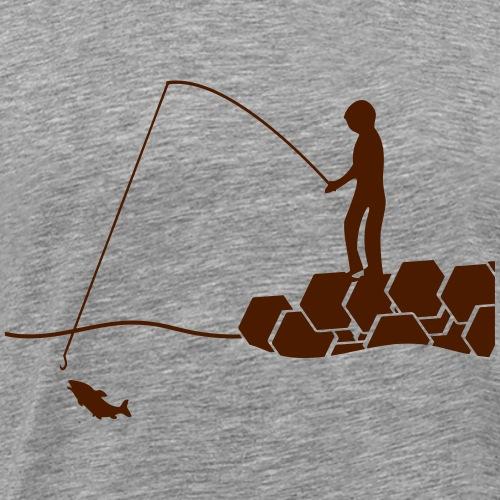 Buhnenangler - Männer Premium T-Shirt