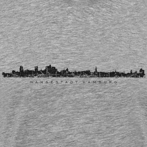 Hamburg Skyline Vintage/Schwarz Hansestadt Hamburg - Männer Premium T-Shirt