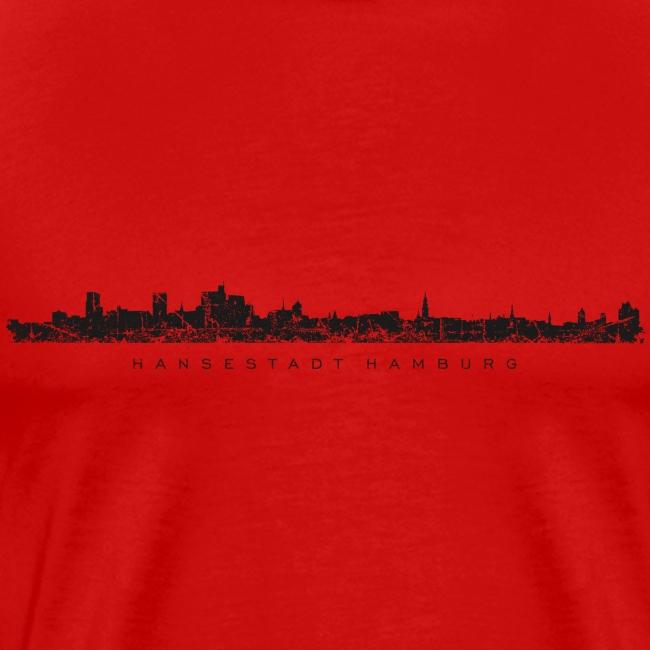 Hamburg Skyline Vintage/Schwarz Hansestadt Hamburg
