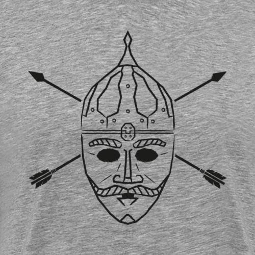 Cuman helmet with arrows - Men's Premium T-Shirt