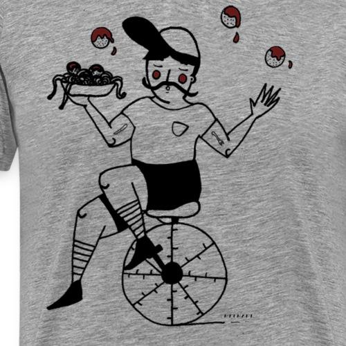 monociclo polpette - Maglietta Premium da uomo
