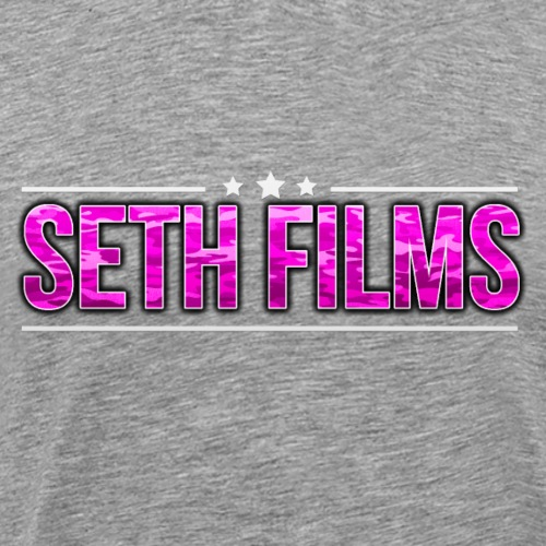 3 STARS SETHFILMS PINK CAMO png - Men's Premium T-Shirt