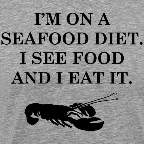 Les régimes avec les fruits de mer - T-shirt Premium Homme