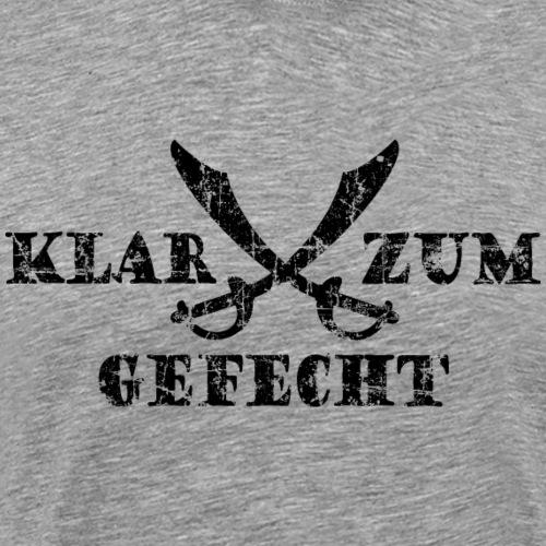 Klar zum Gefecht Piraten Säbel Vintage Schwarz - Männer Premium T-Shirt