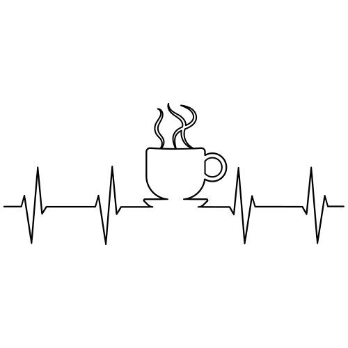 EKG Kaffee - Männer Premium T-Shirt