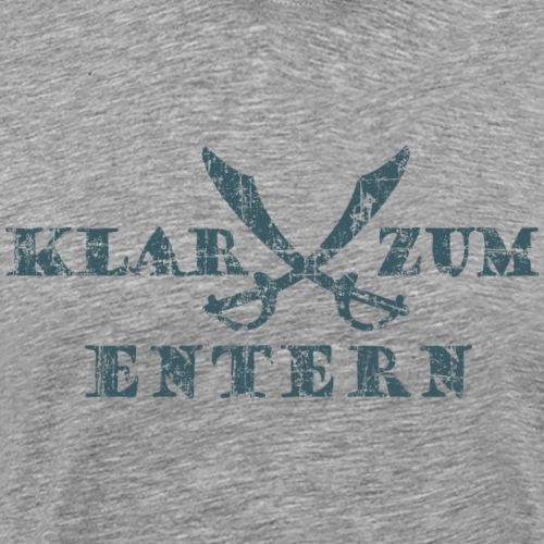 Klar zum Entern Piraten Säbel (Vintage/Dunkelblau) - Männer Premium T-Shirt