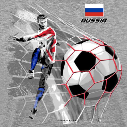 GP22F-04 RUSSIAN FOOTBALL TEXTILES AND GIFTS - Miesten premium t-paita