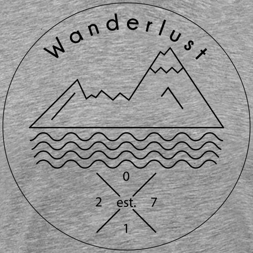 Wanderlust Watzmann Alpen - Männer Premium T-Shirt