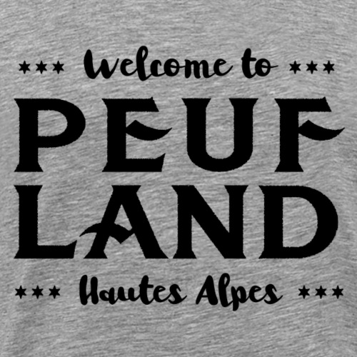 Peuf Land 05 - Hautes-Alpes - Black - T-shirt Premium Homme