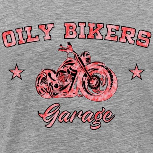 Oily Bikers American Style Garage - Red - Men's Premium T-Shirt