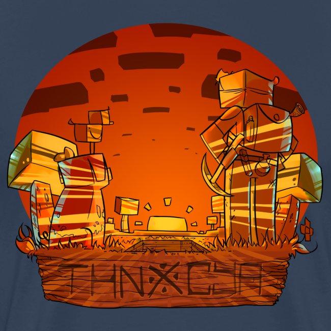 ThnxCya tshirt sunset design by Jonas Nacef png
