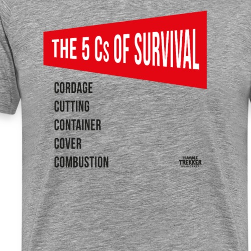 5Cs of Survival Red - Premium-T-shirt herr